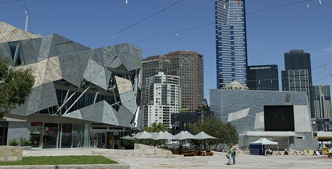 Melbourne - landscape city architecture